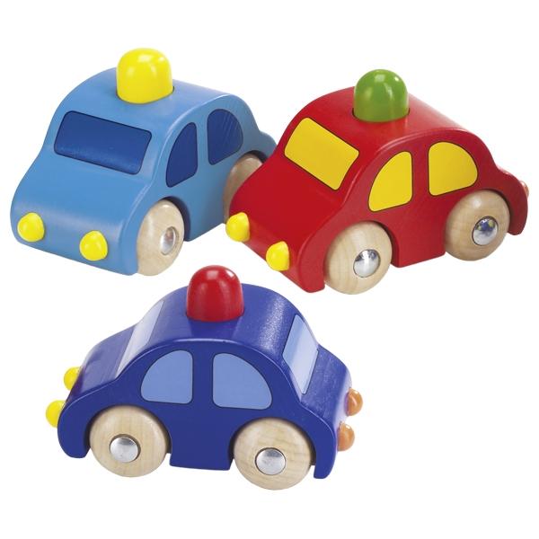 Drevené autíčko s klaksónom