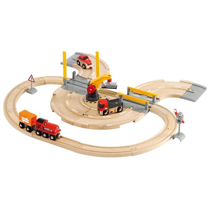Brio Vlaky a cesty Nákladný vlak so žeriavom