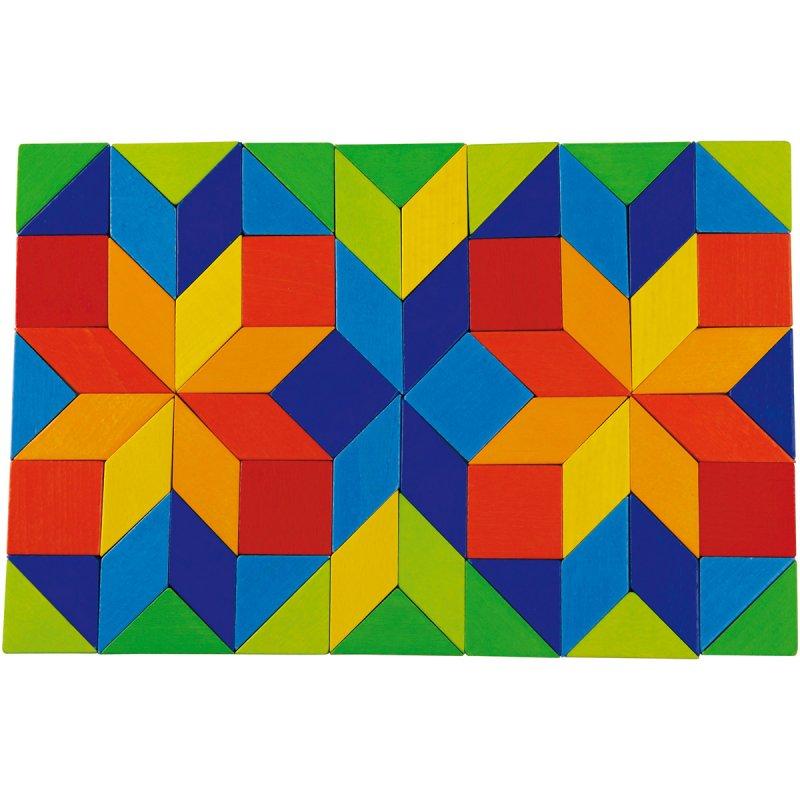 Drevená farebná mozaika Haba