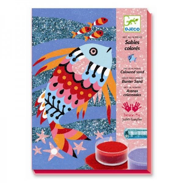 Farebný piesok Trblietavé rybky