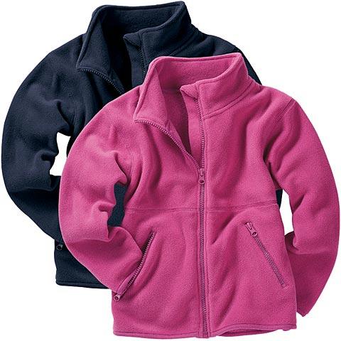 Flísová bunda ružová 104 detská