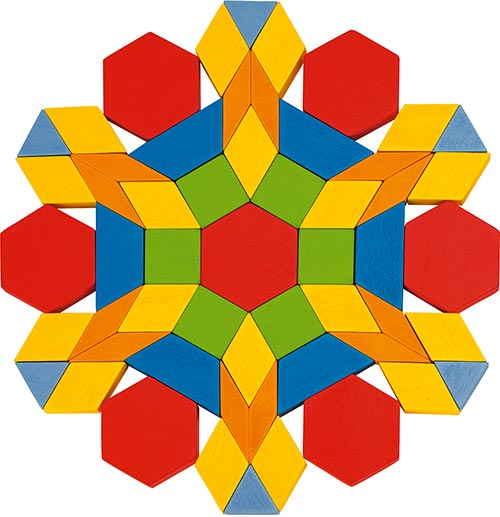 Drevená mozaika Geo