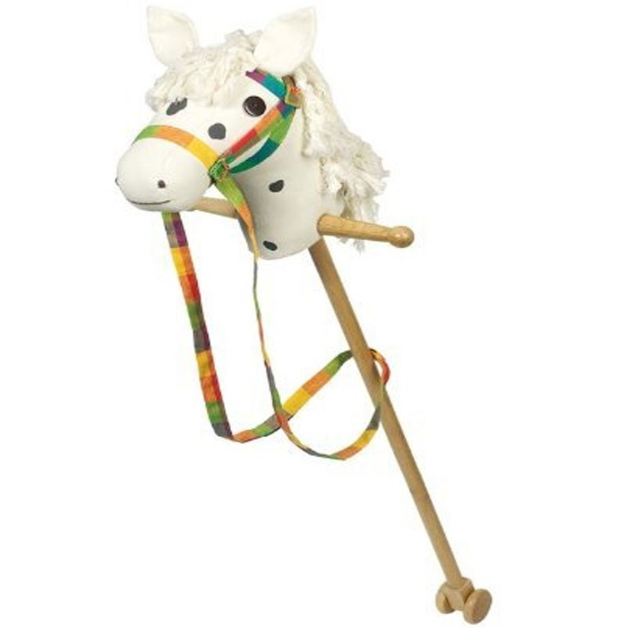 Koník na paličke biely