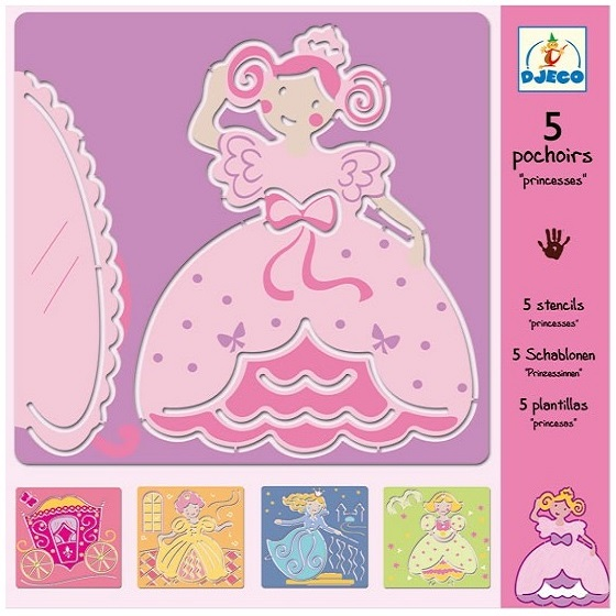 Kreslenie podľa šablóny - princezné