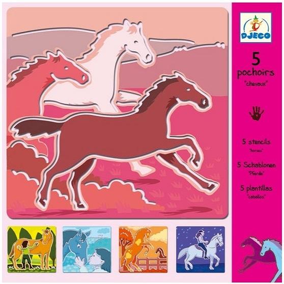 Kreslenie podľa šablóny - kone