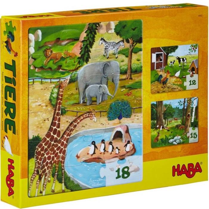 3 puzzle zvieratká