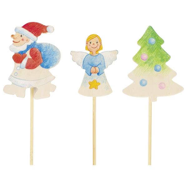 Vianočné ozdoby na paličke